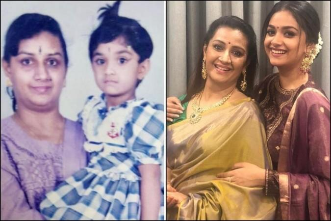 keerthy with mom