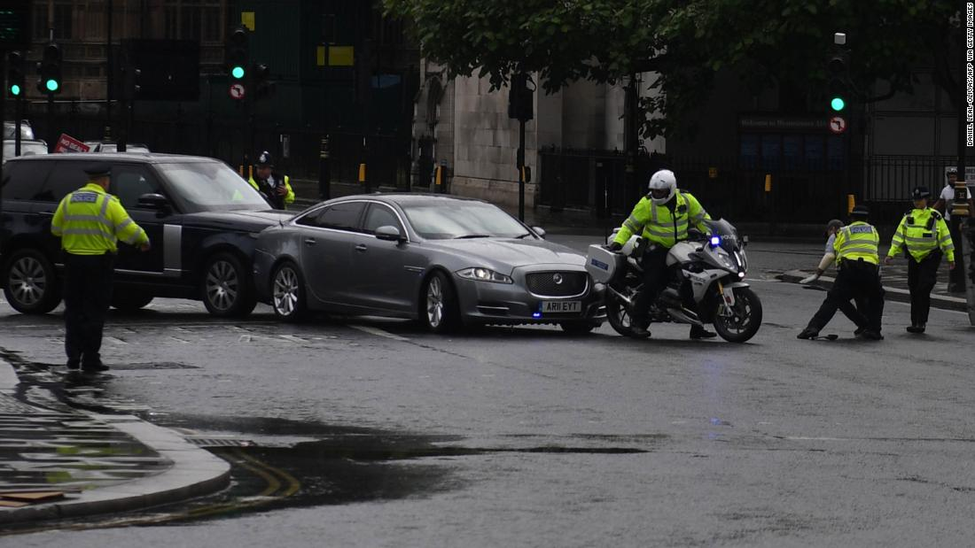 Boris Johnson's car involved in crash outside UK Parliament