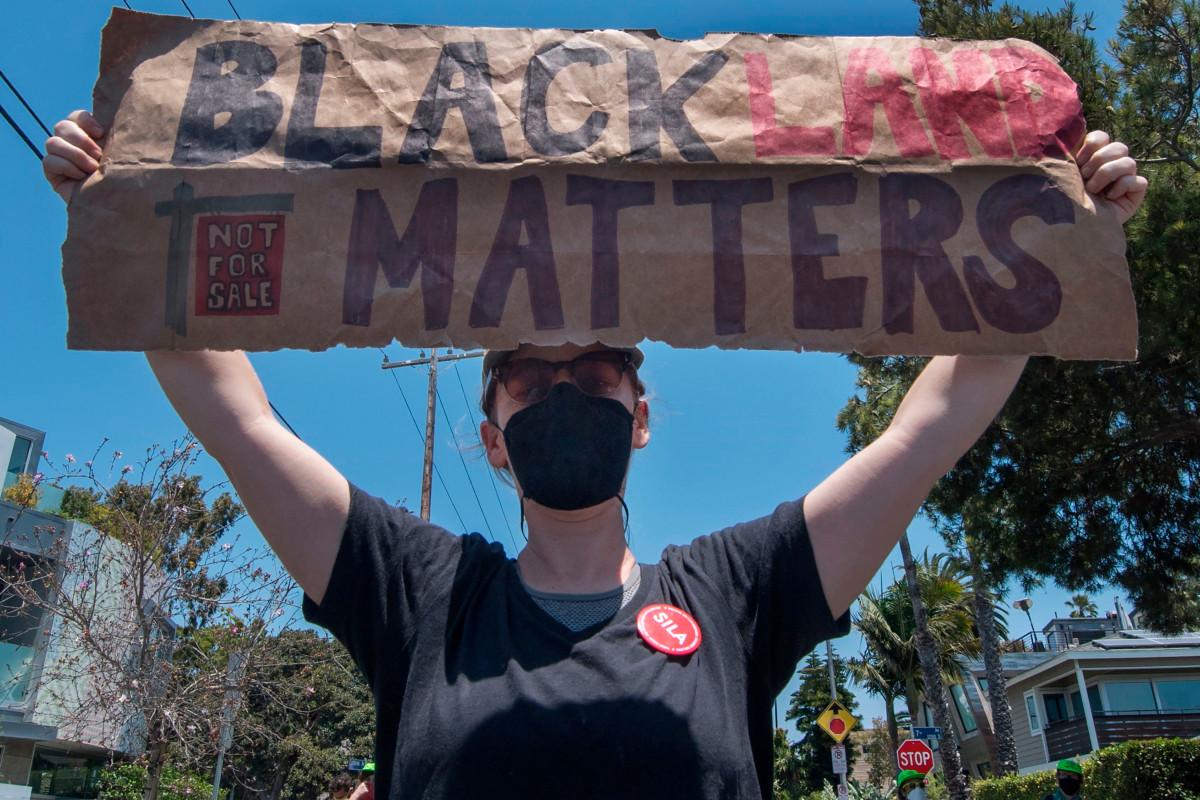 Public employees allegedly destroy Black Lives Matter sign