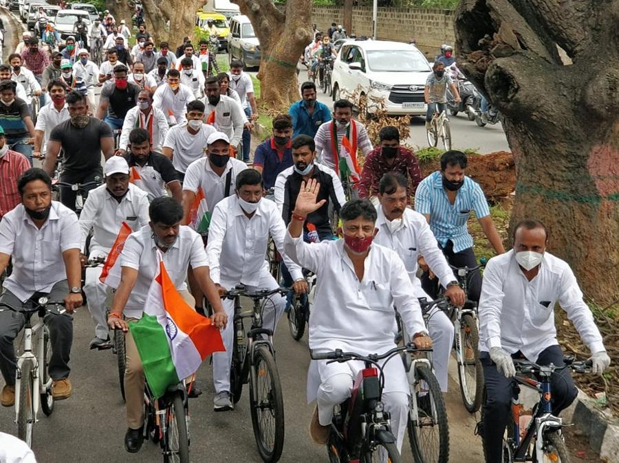 DK Shivakumar at Congress