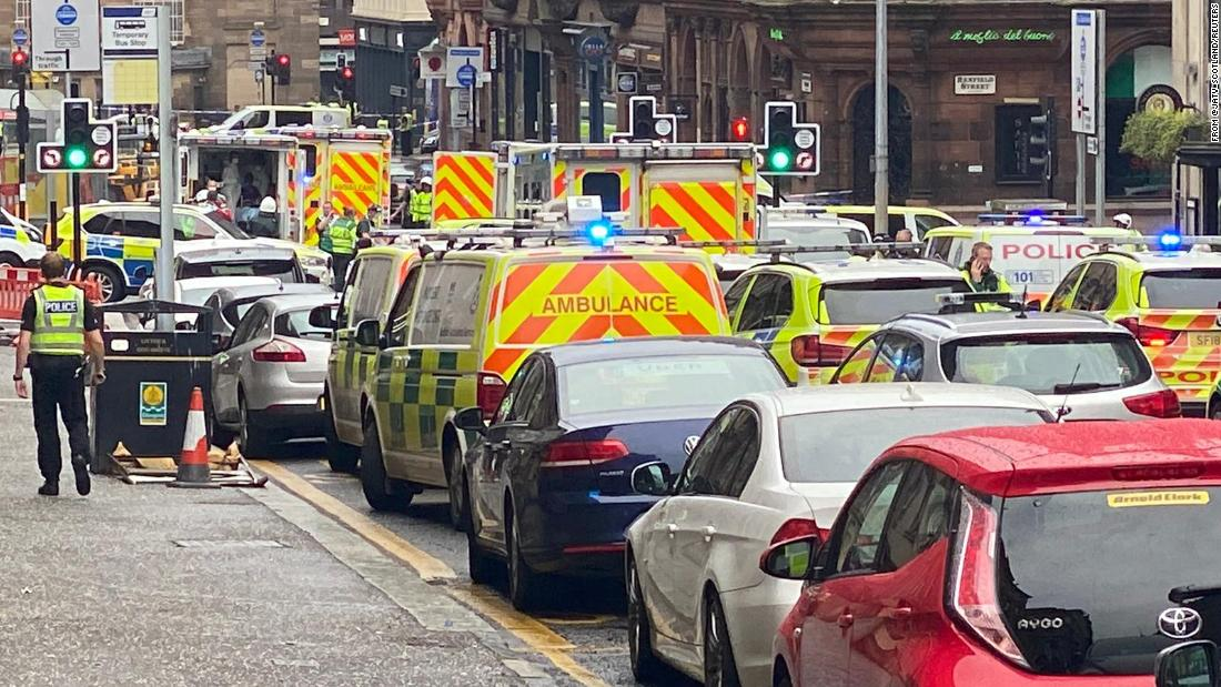 Glasgow stabbing: Suspect shot dead and six hospitalized
