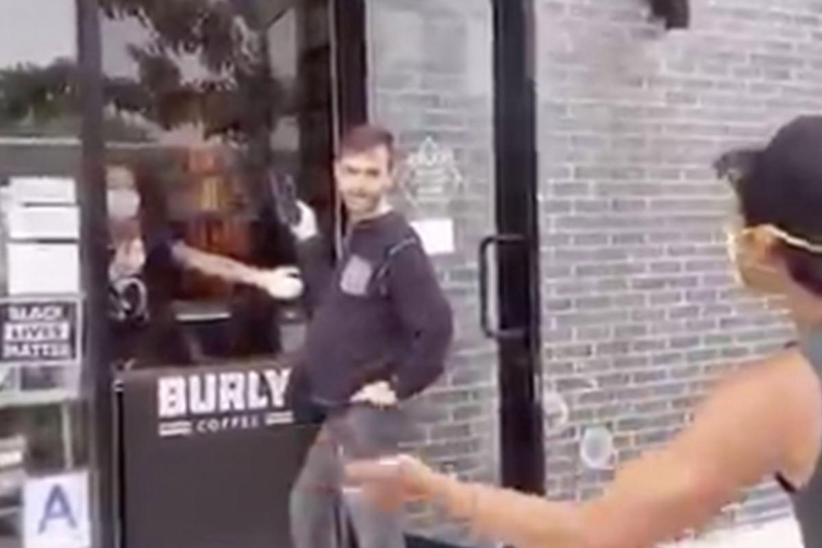 Mask-less man hounds shop over 'Black Lives Matter' sign, video shows