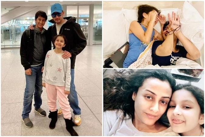 Sitara Ghattamaneni with her brother Gautam, parents Mahesh Babu and Namrata Shirodkar