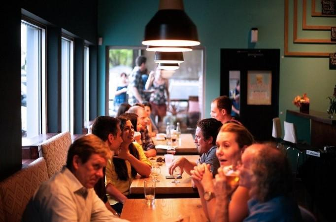 People dining at a restaurant