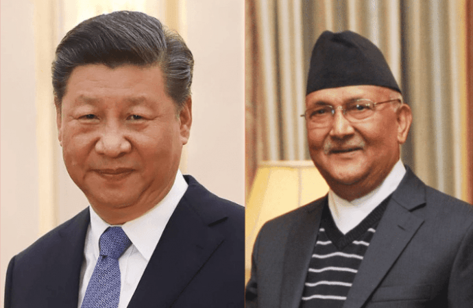 Nepal and China leaders