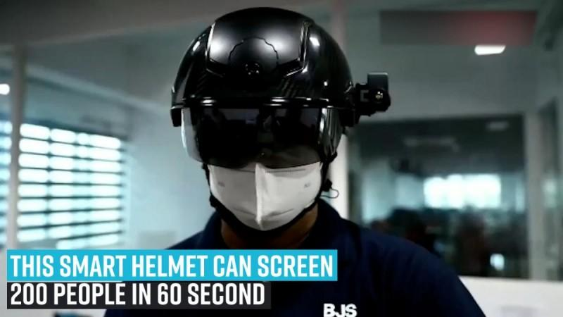 Coronavirus: This smart helmet can screen 200 people in 60 second
