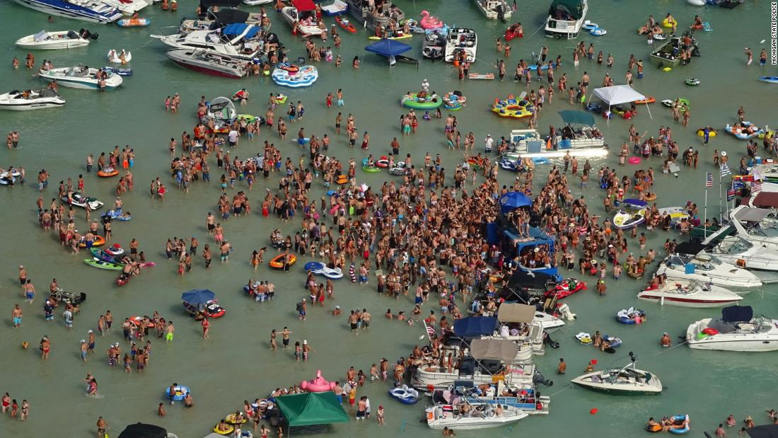 Michigan coronavirus: Revelers celebrated the July 4 weekend at a Michigan lake. Now some have Covid-19