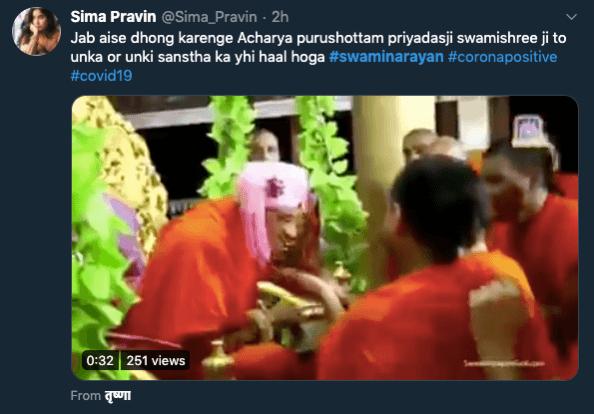 Is Swaminarayan Sanstha head dead'