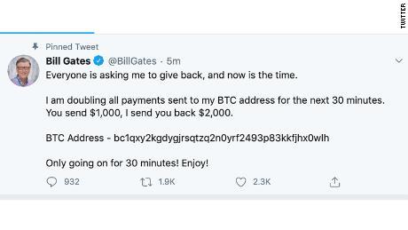 Bill Gates hacked Twitter