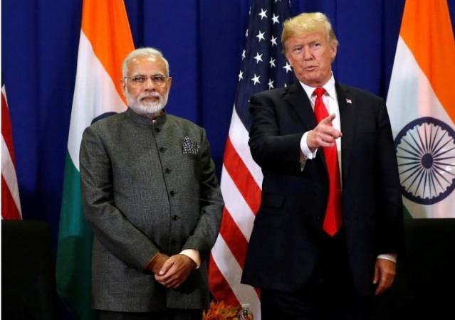 Prime Minister Narendra Modi with US President Donald Trump