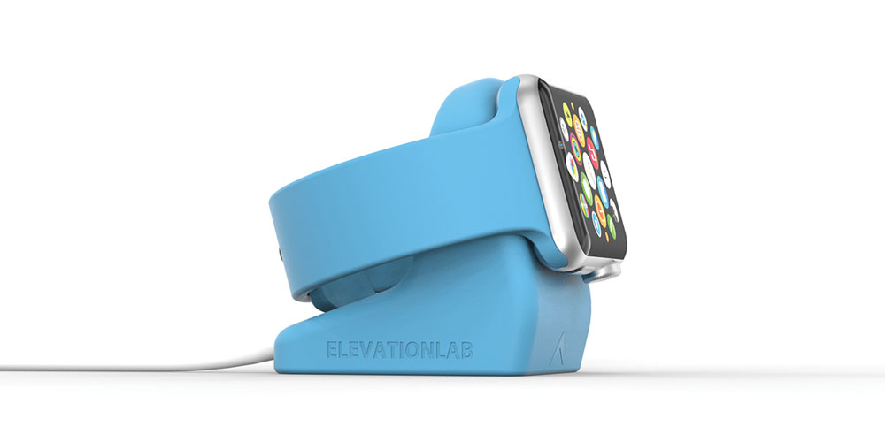 An Apple Watch on a charging stand