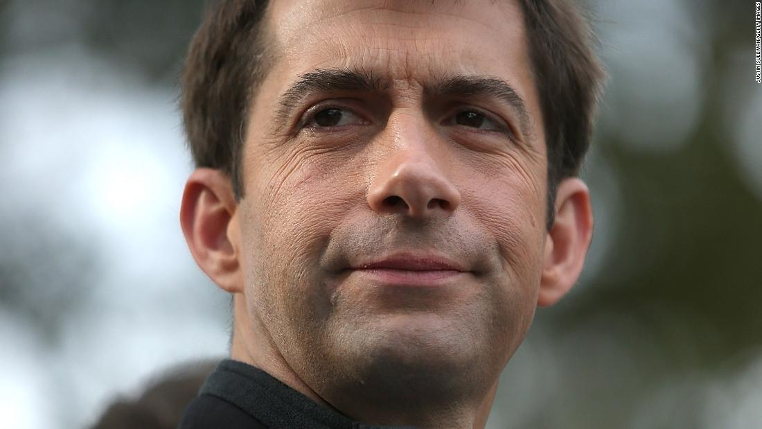 Tom Cotton describes slavery as a 'necessary evil' in bid to keep schools from teaching 1619 Project