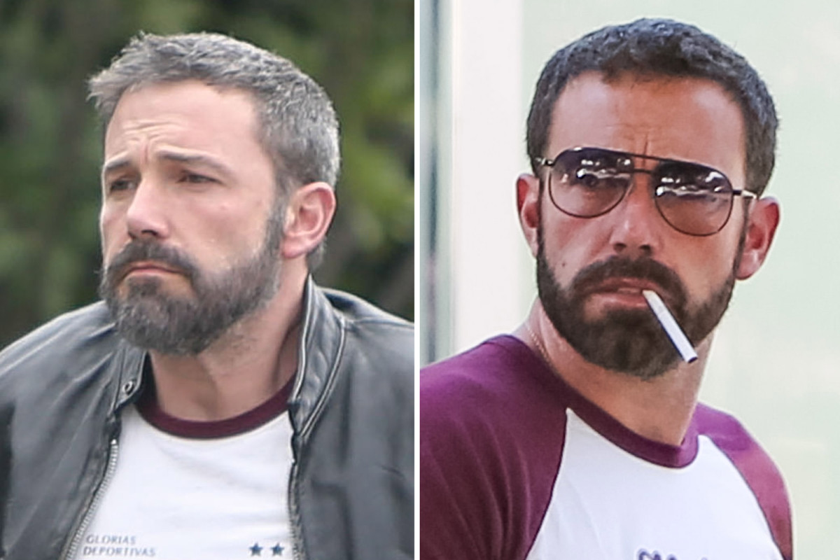 Ben Affleck appears to have dyed his hair and beard