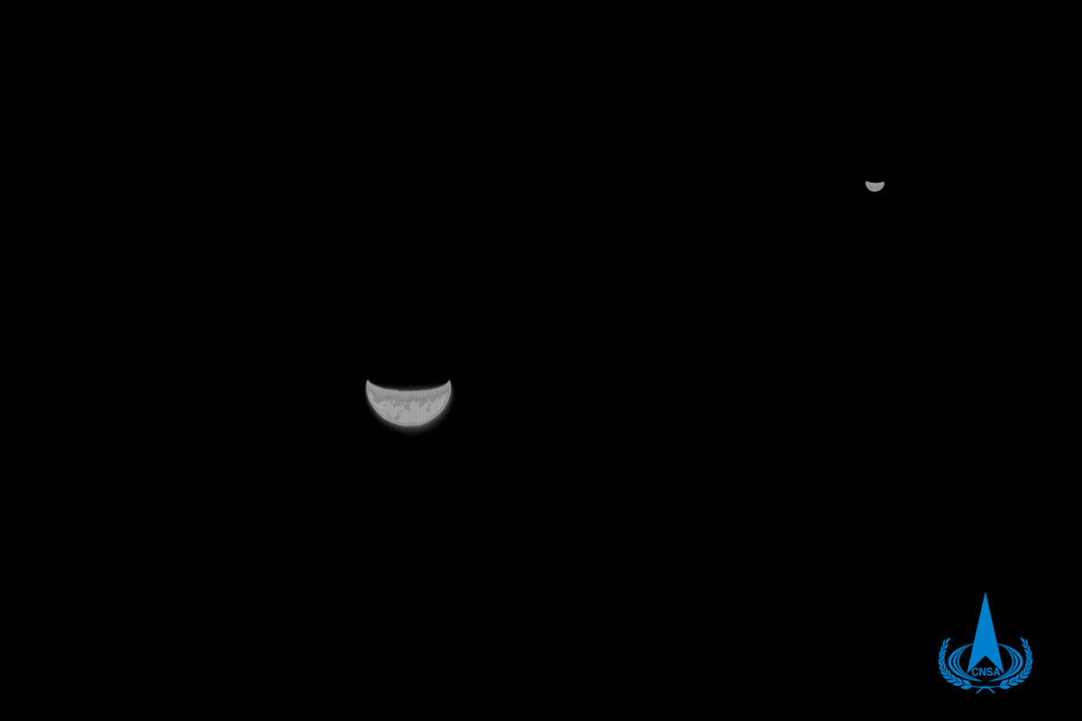China takes stunning photo of Earth and the Moon from Mars probe