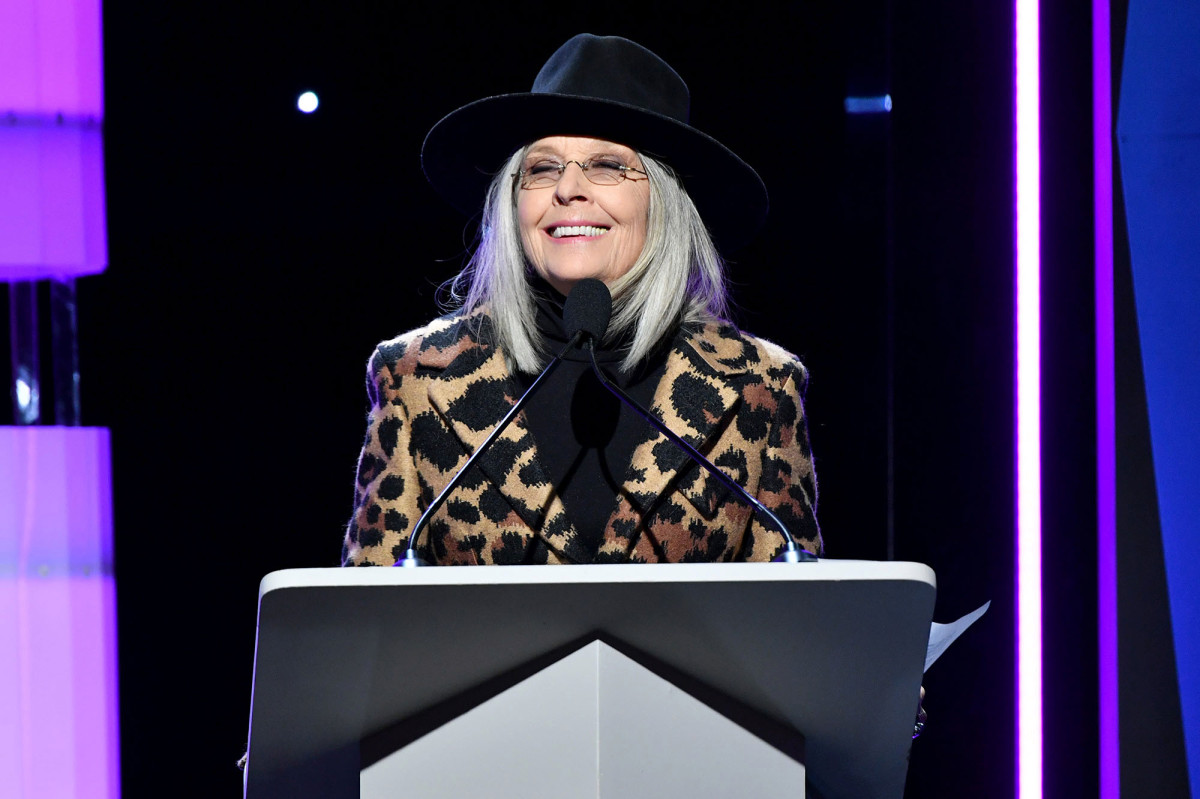 Diane Keaton shows off her massive collection of hats