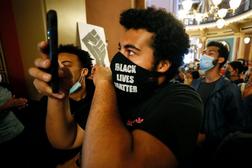 Iowa Gov. Kim Reynolds' car hits Black Lives Matter protester: report