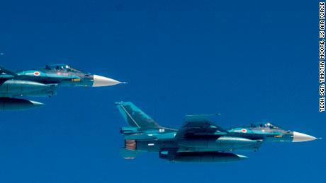 Japanese F-2 fighter jets