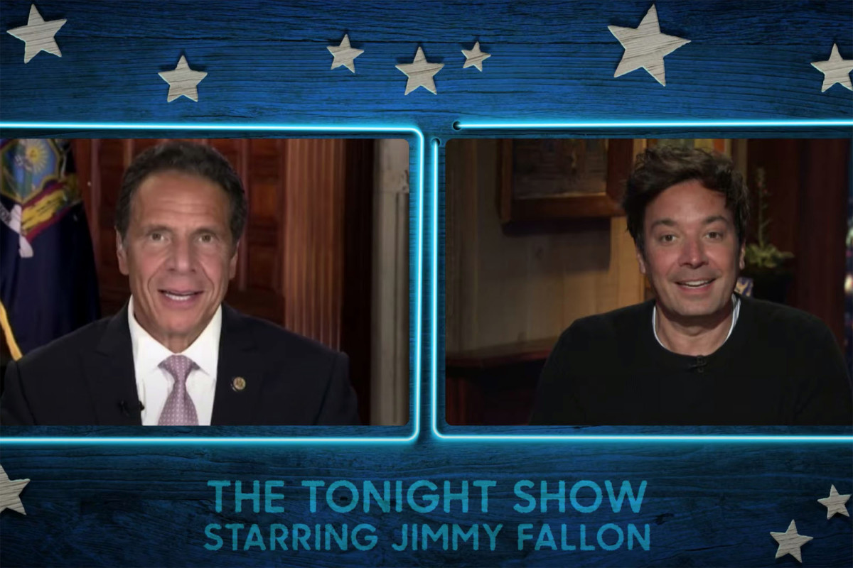 Jimmy Fallon welcomes Gov. Cuomo during first show back in studio