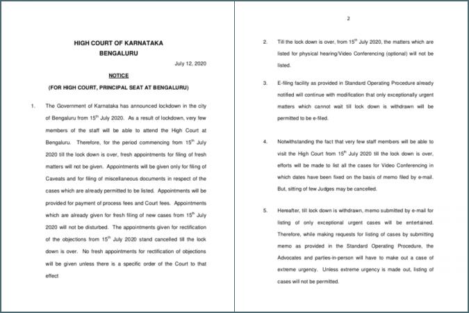 Karnataka HC notice
