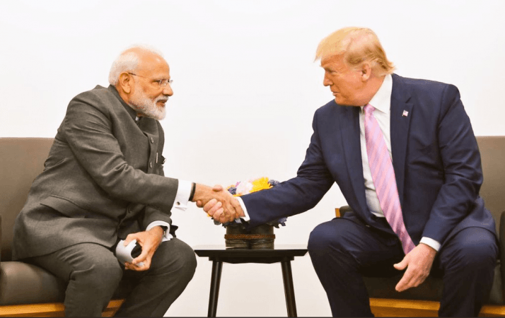 Modi and Trump meeting