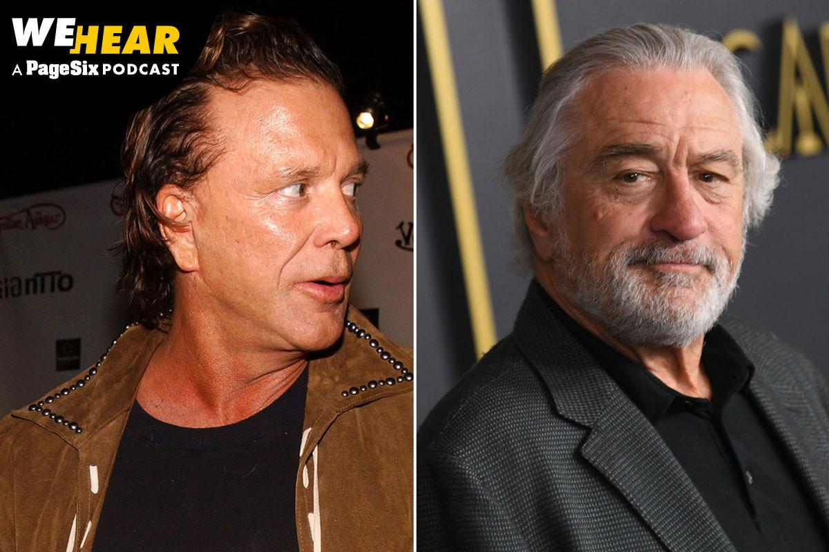 Mickey Rourke's new attack on Robert De Niro is old beef