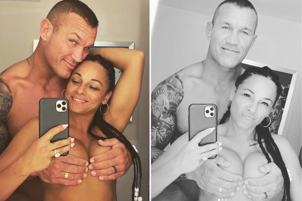 Randy Orton shares photos of topless wife