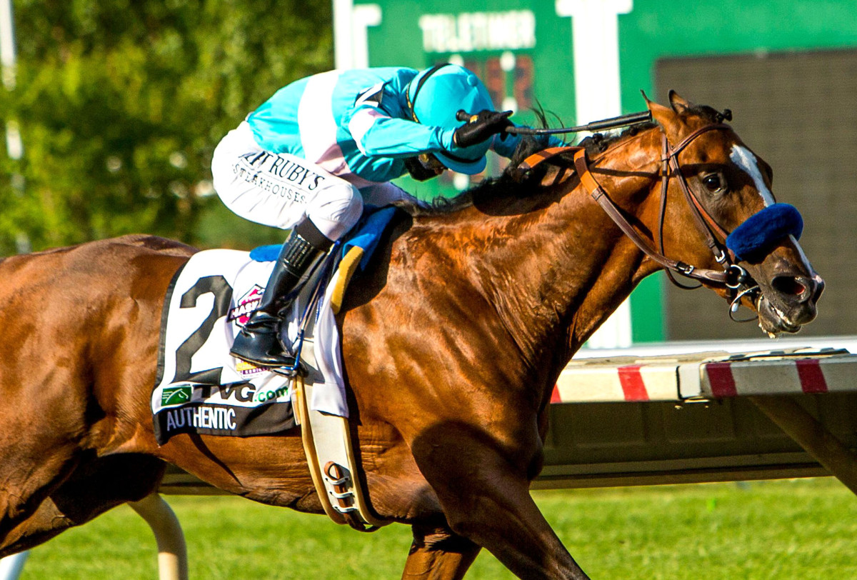 Authentic gives Bob Baffert his ninth Haskell victory