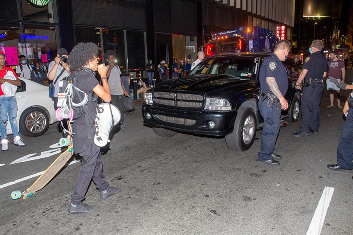SUV driver runs over bicycles at Black Lives Matter protest in NYC