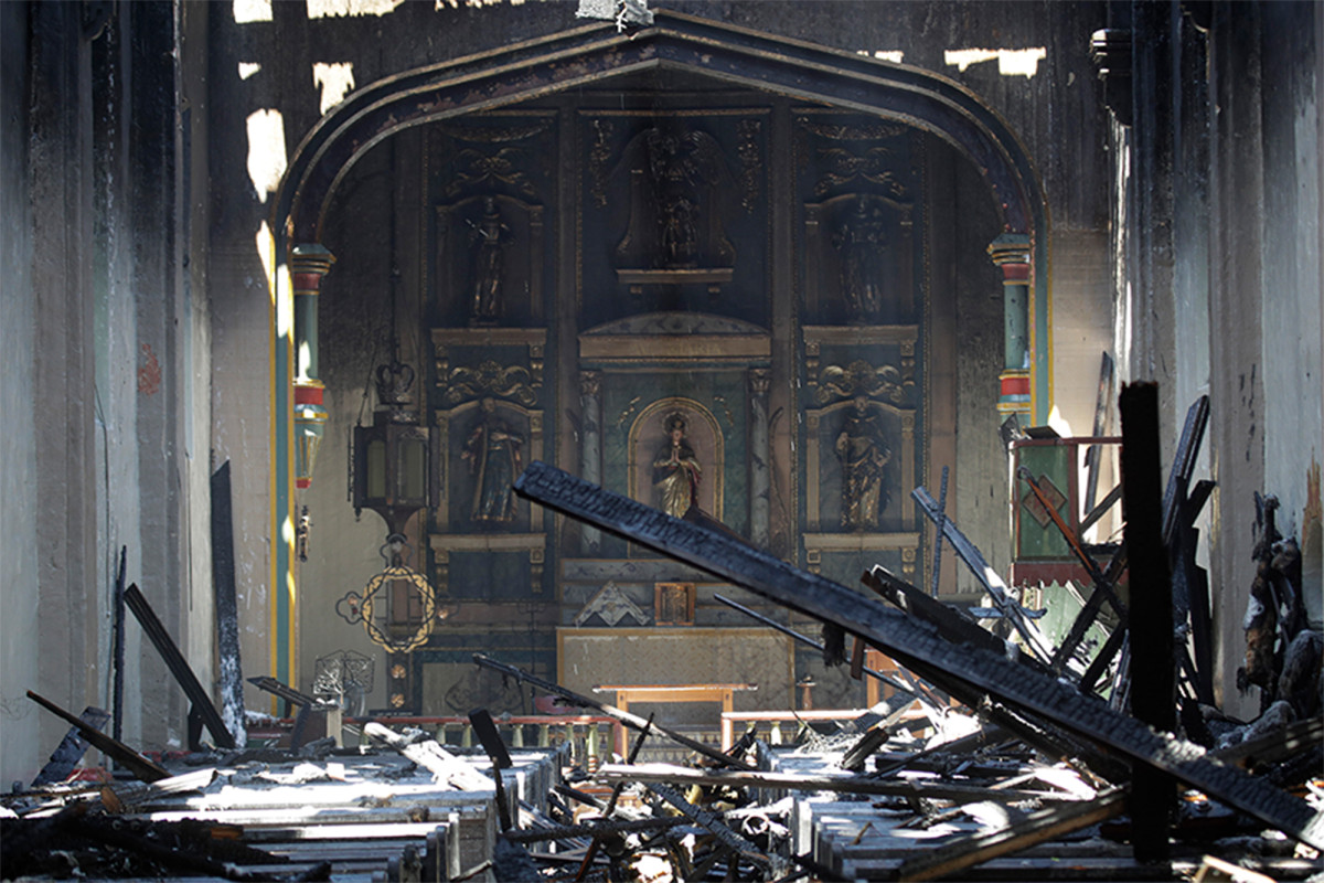 San Gabriel Mission destroyed in early morning fire