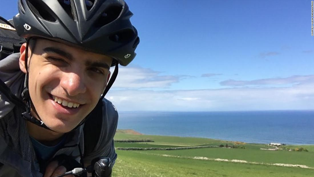This Greek college student biked 48 days to make it back home to his family
