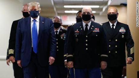 Trump tweets image of himself wearing a mask and calls it 'patriotic'