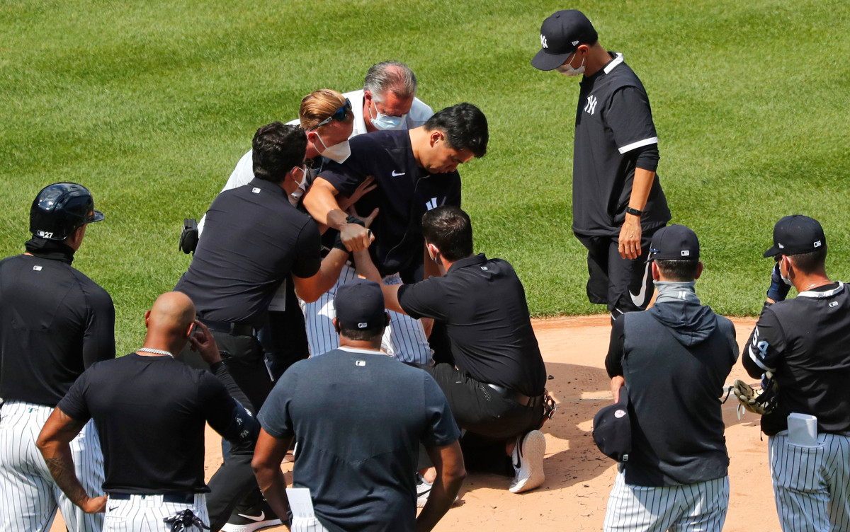 Yankees' Masahiro Tanaka's scary injury latest blow in scary time