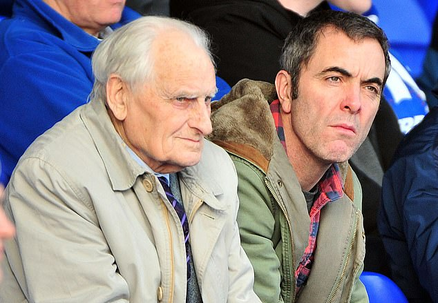 Nesbitt pictured with his father,James Nesbitt Snr, during a game at the Coleraine showgrounds in March 2012. The 91-year-old passed away on Friday