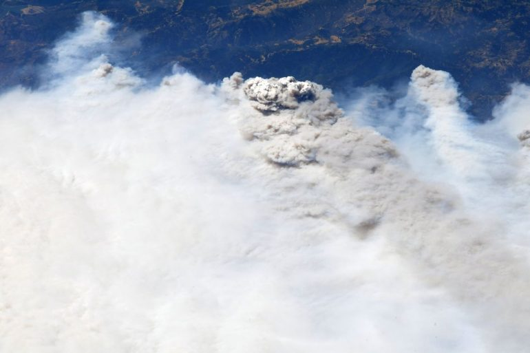 Astronaut spots California wildfires from space, sends 'thoughts and prayers' to victims