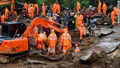 Monsoon rains trigger tea plantation landslide in India's Kerala state, killing at least 43 people