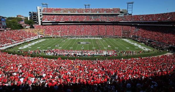Georgia football schedule front-loaded, 6 weeks between home games at Sanford Stadium
