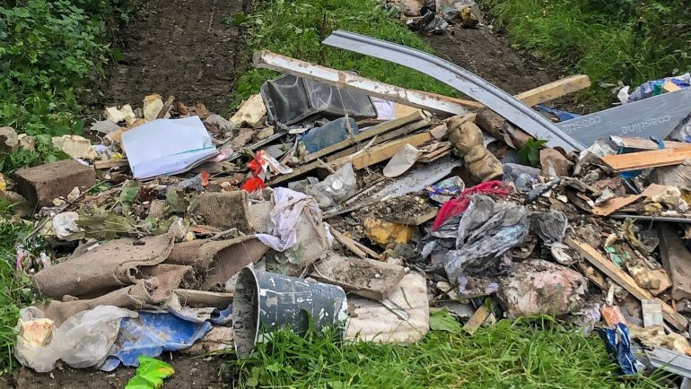 Illegal waste dumped in Co Louth laneway