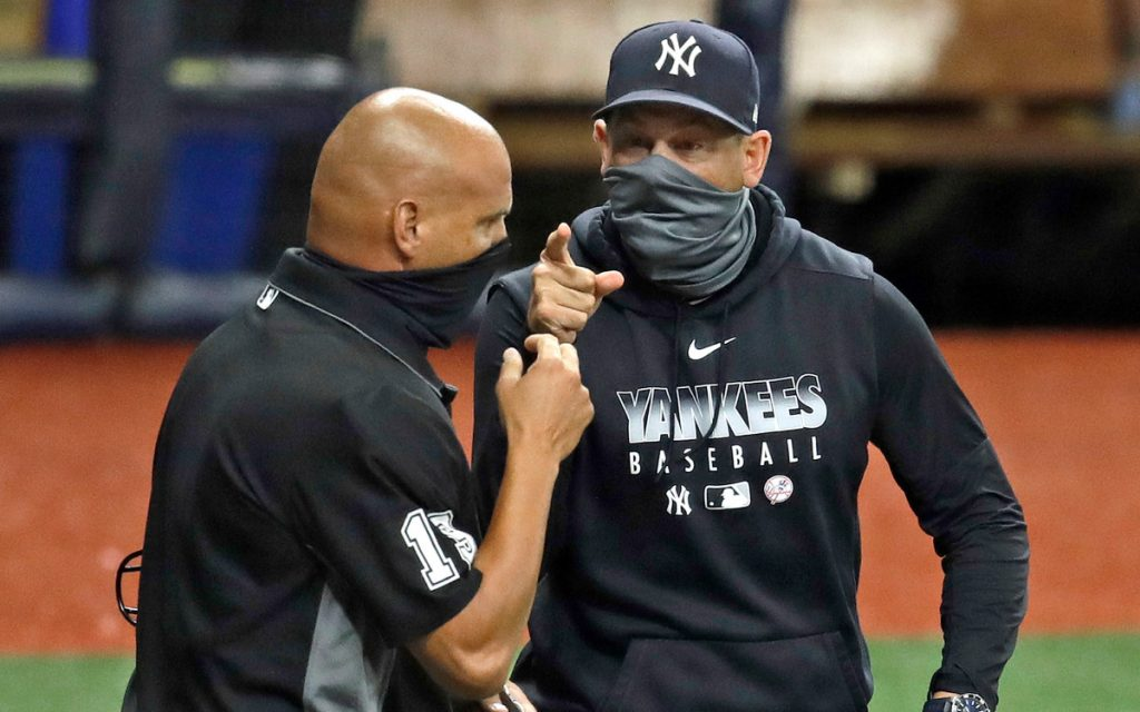 Inside of Yankees' Aaron Boone's ejection: 'Just about the history'