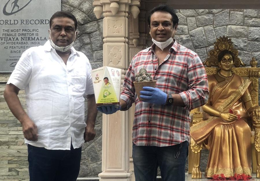 MP Santosh Kumar starts off Seed Vinayaka after GIC and sends Ganesha Idols to Telugu celebs