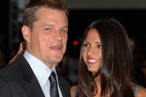 Matt Damon and his wife Luciana Barroso (Joel Ryan/PA)
