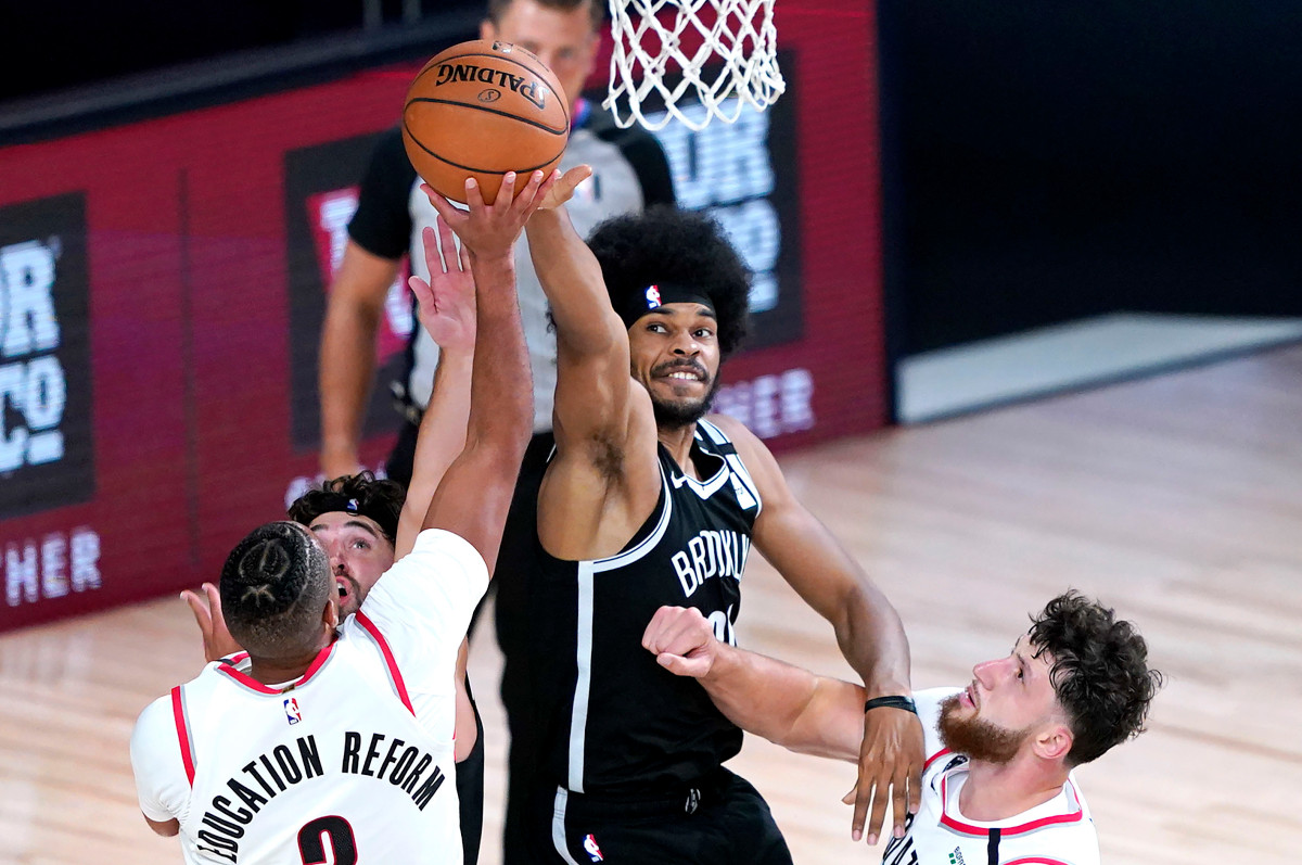 Nets battle but can't stop Trail Blazers from making playoffs