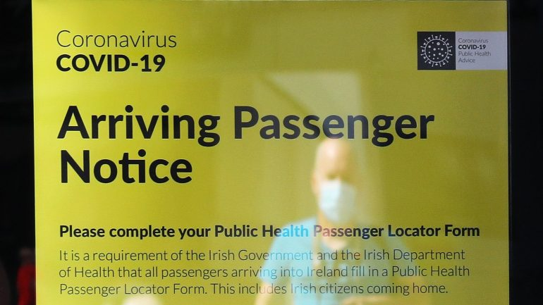 Passenger locator form online from 26 August