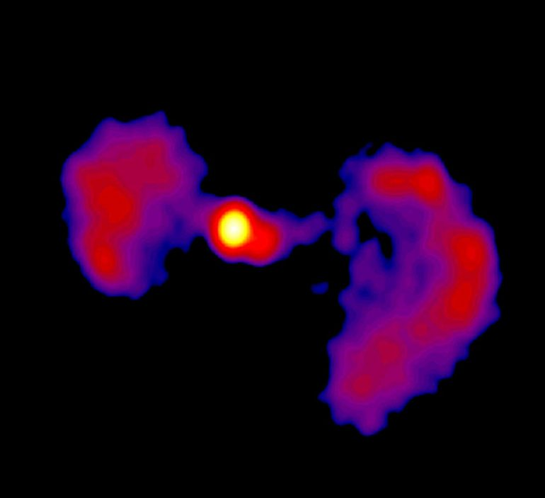 "Scientists take a closer look at the ""TIE Fighter"" active galaxy"