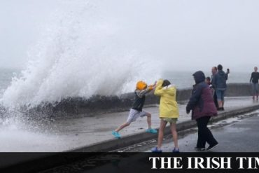 Storm Ellen hits with 'severe and potentially damaging winds' expected in coming hours