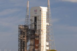 The big Delta IV Heavy rocket will try to loft a classified mission tonight