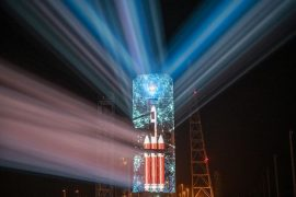 United Launch Alliance debuts first-ever 3D projection of Delta IV Heavy Rocket