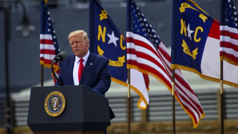 Facebook, Twitter flag Trump posts in mail-in voting, goes to polls: NPR