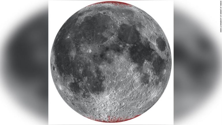 The earth is rusting the moon