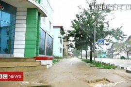 Typhoon Maysak: North Korea vows to punish victims