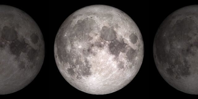 Based on data from NASA's Lunar Reconnaissance Orbiter spacecraft, this image shows the face of the Moon we see from Earth.